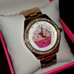 Betsey Johnson sprinkle time cupcake watch